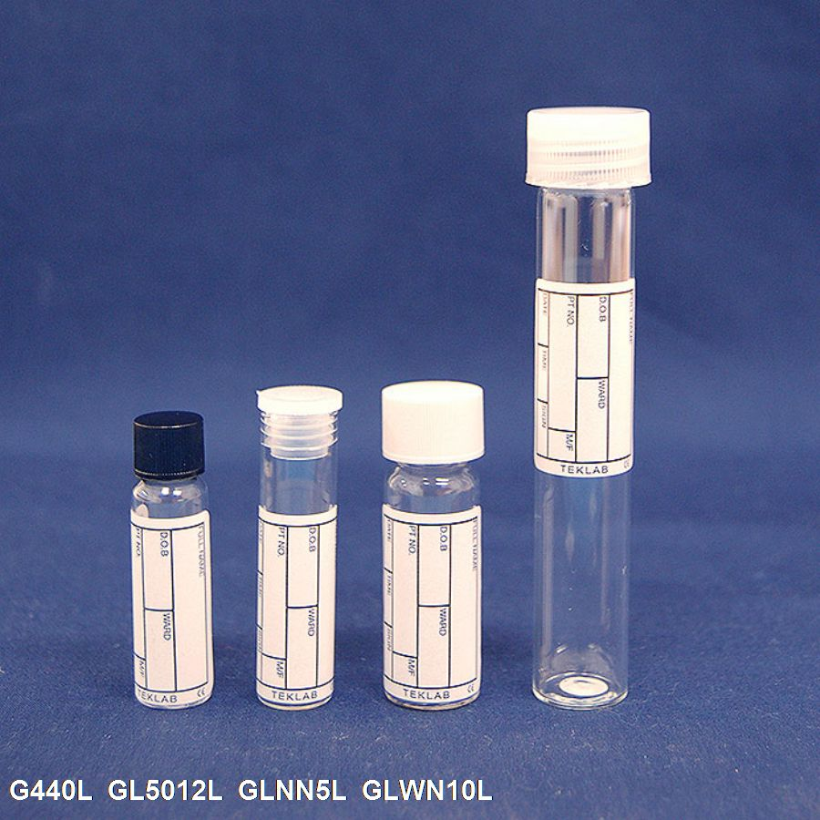 Labelled & Capped Flat Bottom Glass Tubes